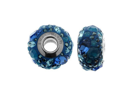 Charm din argint si Swarovski Elements Blue