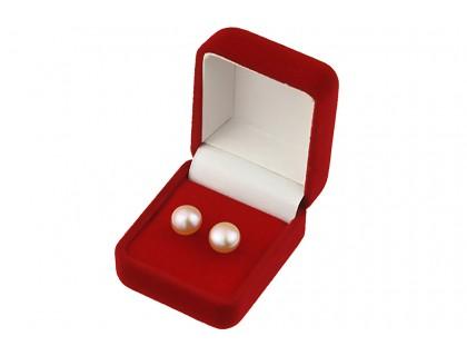 Cercei buton din perle de cultura lila