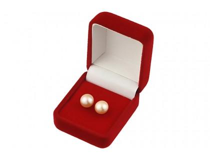 Cercei buton din perle de cultura piersica