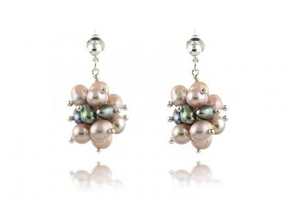 Cercei ciorchine din perle de cultura