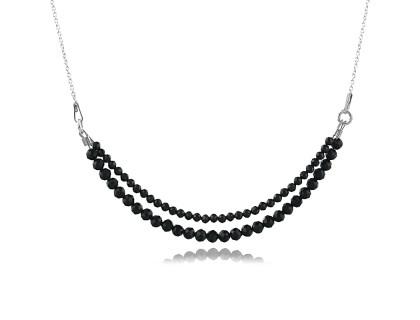 Colier din argint si spinel negru