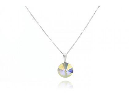 Colier din argint si Swarovski Crystal Aurora Borealis