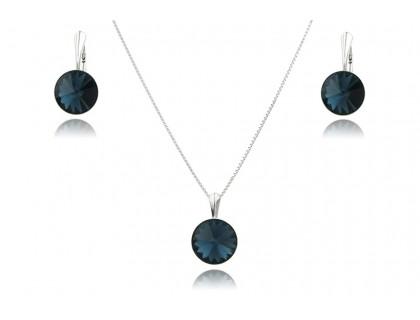 Set cristale Swarovski Montana si argint