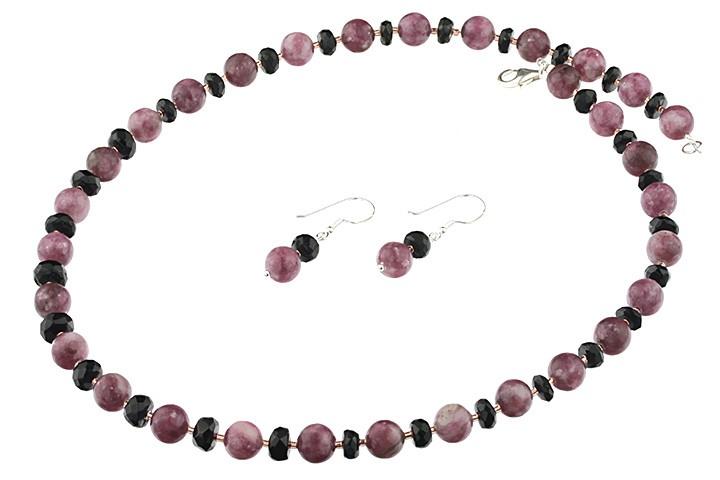 textură bună cel mai bun preț de vanzare Set bijuterii din turmalina roz si turmalina neagra | Magazin ...