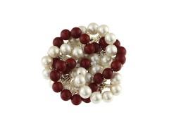Brosa brodata din perle de Mallorca