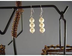 Cercei din perle de cultura albe