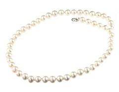 Colier clasic perle de cultura albe 8 - 9 mm