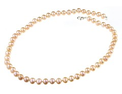 Colier clasic perle de cultura crem 7 - 8 mm A