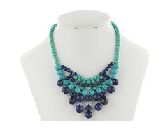 Colier din turcoaz si lapis lazuli