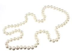 Colier mediu perle de cultura albe 7 - 8 mm A