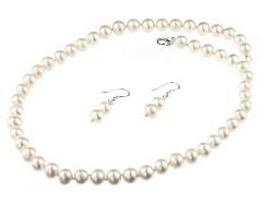 Set clasic perle de cultura albe 7 - 8 mm A