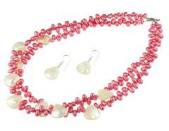 Set perle de cultura roz si sidef alb