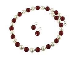 Set perle de Mallorca albe si rosii