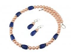 Set perle de Mallorca si lapis lazuli