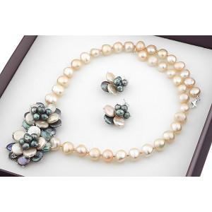 Set exclusivist din perle Biwa si perle baroc