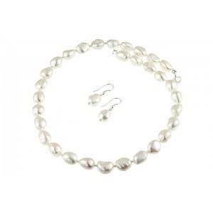 Set perle de cultura baroc si argint