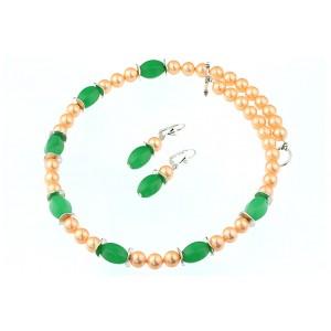 Set perle de Mallorca si jad verde