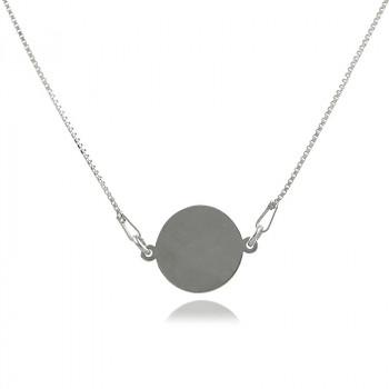 Colier din argint cu banut pentru gravat