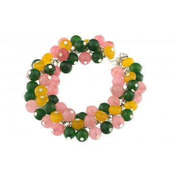 Bratara ciorchine din jad multicolor
