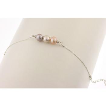 Bratara din argint si perle naturale 9-10 mm, calitate AAA
