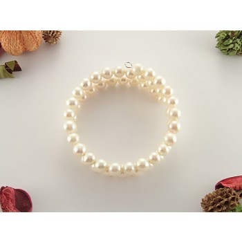 Bratara din perle naturale albe