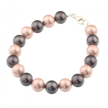 Bratara din perle de Mallorca si argint