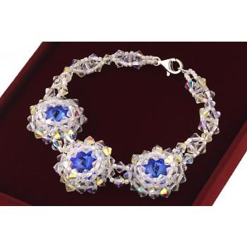 Bratara exclusivista din cristale Swarovski Sapphire