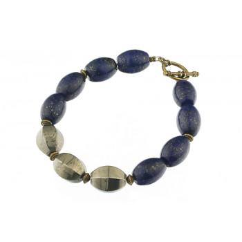 Bratara lapis lazuli si pirita