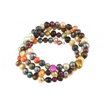 Bratara multisir din perle de cultura multicolore
