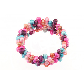 Bratara multisir din perle multicolore