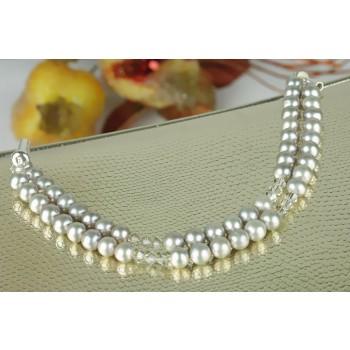Bratara perle de cultura, Swarovski si argint