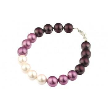 Bratara perle de Mallorca in trei culori si argint