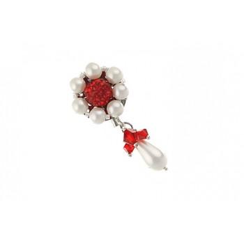 Brosa perle de Mallorca si cristale Swarovski