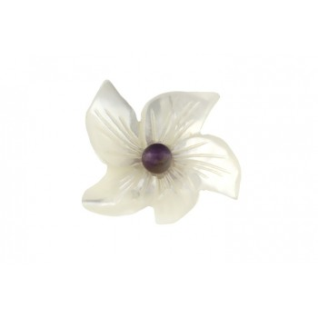 Brosa floare sidef si ametist