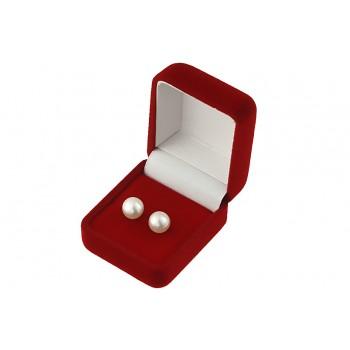 Cercei buton din perle de cultura albe