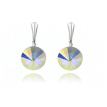 Cercei din argint si Swarovski Crystal Aurora Borealis