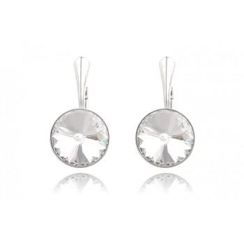 Cercei din argint si Swarovski Crystal Clear