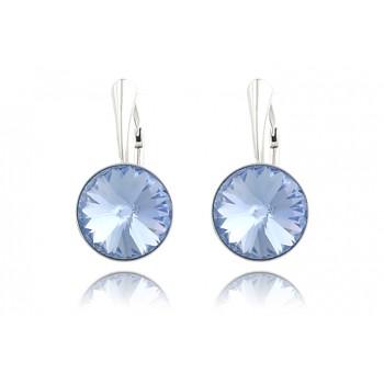 Cercei din argint si Swarovski Light Sapphire