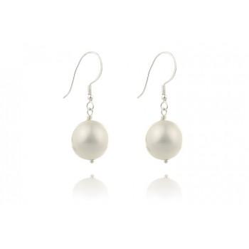 Cercei din perle de Mallorca albe