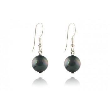 Cercei perle de Mallorca negre