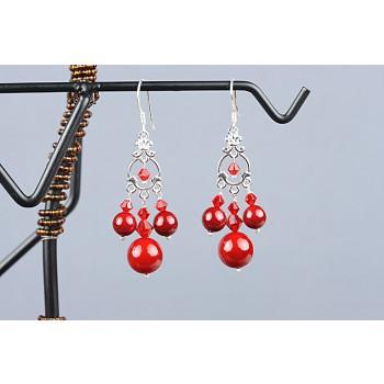 Cercei perle de Mallorca si cristale Swarovski