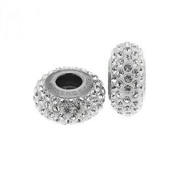 Charm din argint si Swarovski Elements Crystal
