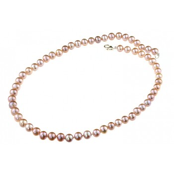 Colier clasic perle de cultura lila 7 - 8 mm A