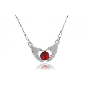 Colier din argint si cristal Swarovski Scarlet
