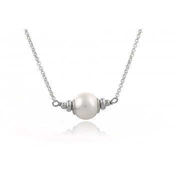 Colier din argint si perla naturala 10-11mm, calitate AAA