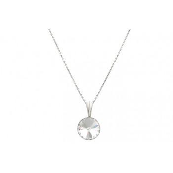 Colier din argint si Swarovski Crystal Clear