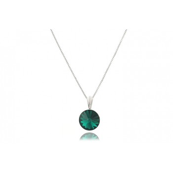 Colier din argint si Swarovski Emerald