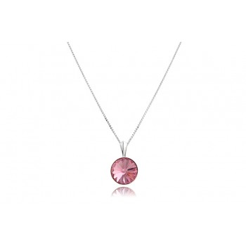 Colier din argint si Swarovski Light Rose