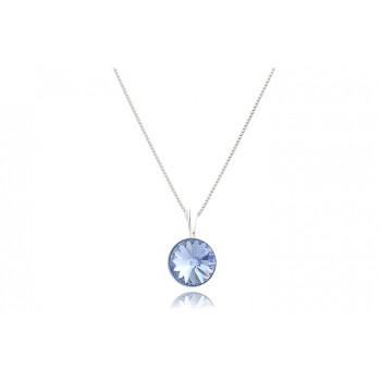 Colier din argint si Swarovski Light Sapphire