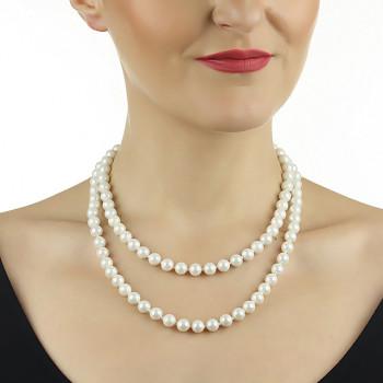 Colier doua siraguri din perle de Mallorca